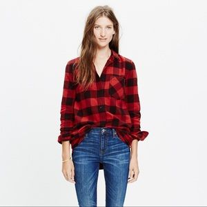 Madewell Flannel Ex Boyfriend Shirt Buffalo Check